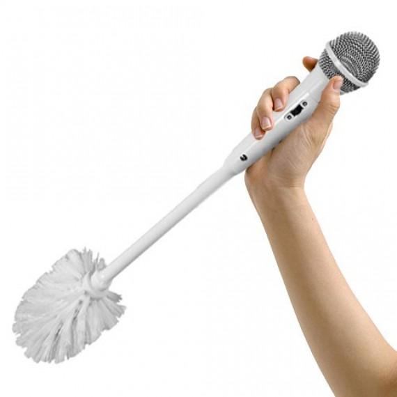 La brosse balai de toilettes micro