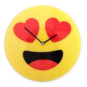 Horloge Murale Émoticône Coeurs