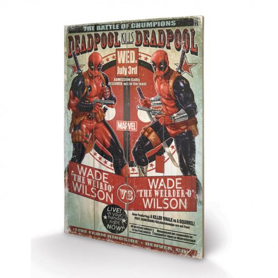 Panneau en Bois Deadpool Wade vs Wade