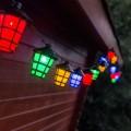 Guirlande à lampions colorés