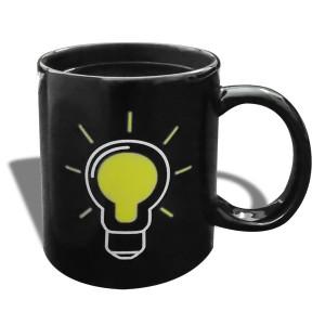 tasse céramique thermoréactive à motif ampoule