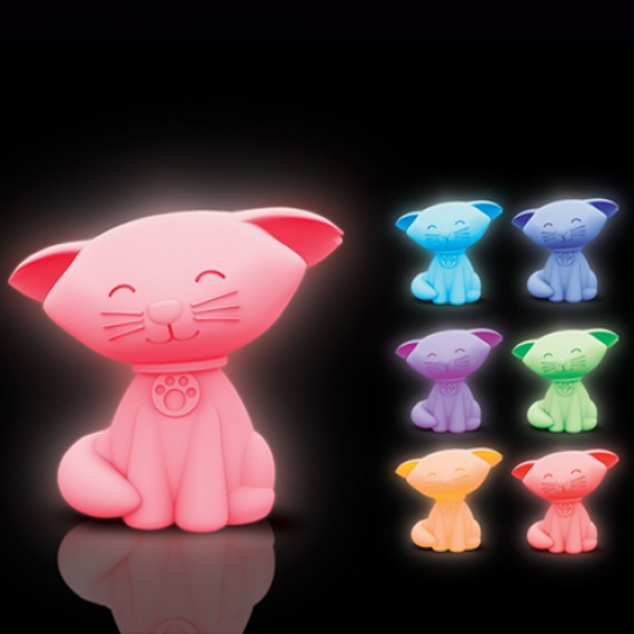 Veilleuse chat mood light