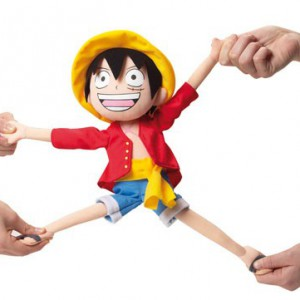 Peluche Luffy Elastique One Piece