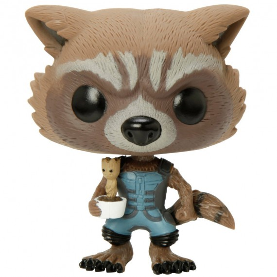 Figurine Pop! Marvel Gardiens de la Galaxie Rocket et Bébé Groot