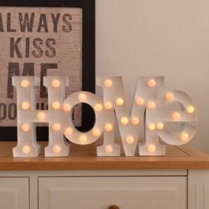 """Lampe design """"HOME"""" blanche"""