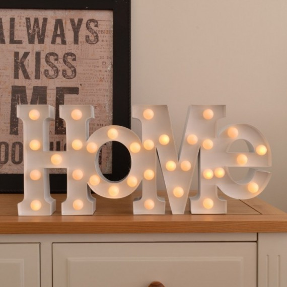 "Lampe design ""HOME"" blanche"