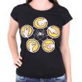 T-shirt Big Bang Theory Femme - Pierre, papier, ciseaux, lézard, Spock