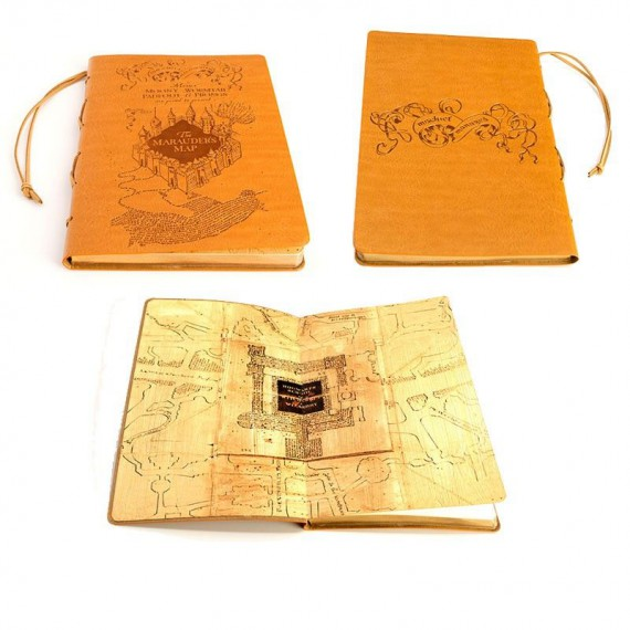 Journal Harry Potter Carte du Maraudeur