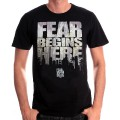 Tshirt homme Fear Begin Here - The Walking Dead