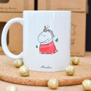 Mug Licorne de Noël | J'ai été très sage cette année (C'est ma licorne qui le dit)