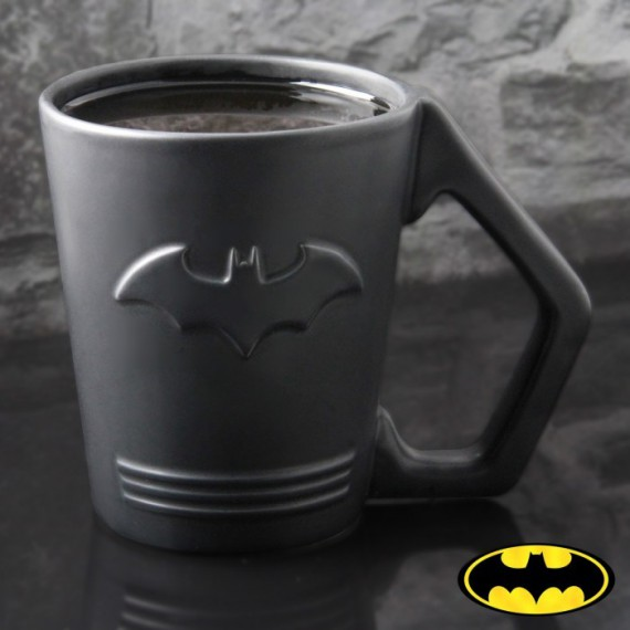 Mug céramique logo Batman en relief Dark Knight