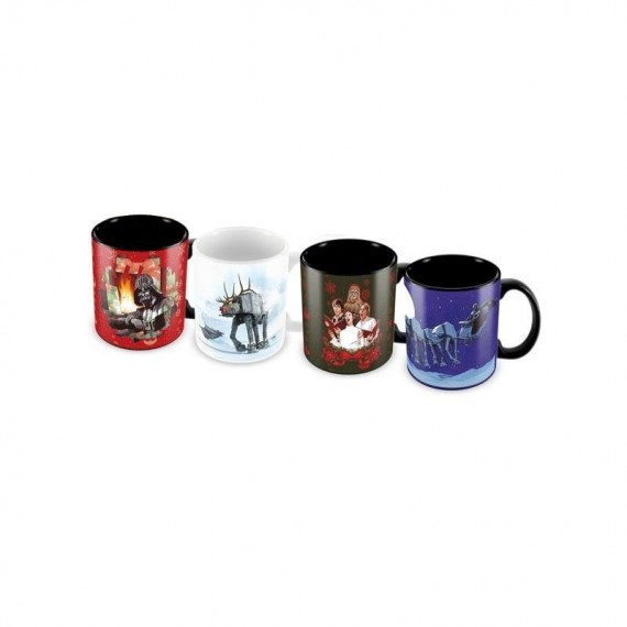 Set 4 tasses expresso Star Wars Christmas Edition