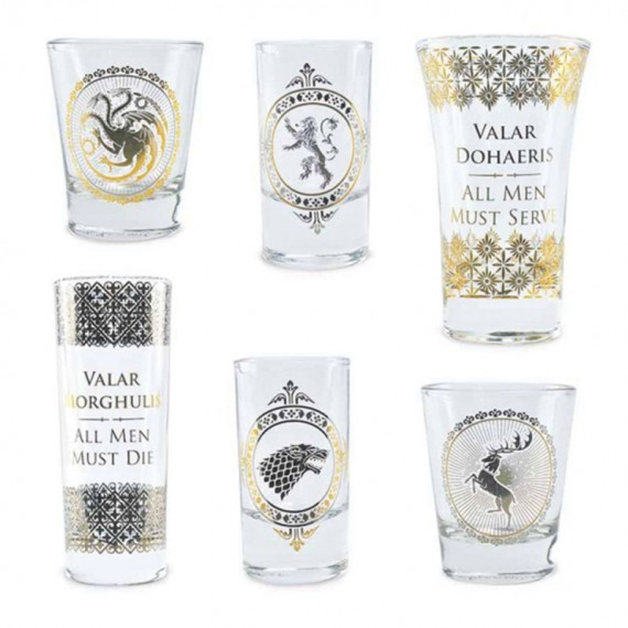 Coffret deluxe - Verres Shooters Game of thrones