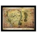 Cadre carte Seigneur des Anneaux, Terre du Milieu