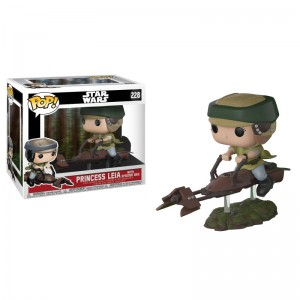 Figurine POP Star Wars - Speeder Bike with Leia