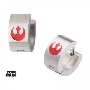 Boucles d'oreilles Star Wars Enamel Filled Rebel Logo