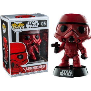 Figurine Star Wars - Red Stormtrooper Exclusive Pop 10cm