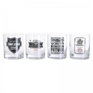 4 Verres Marvel Iron Man Stark Industries Quotes Set A