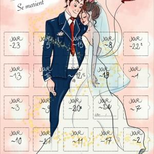 Calendrier de l'avant 25 jours avant le mariage