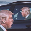 Sticker vitre de voiture Donald Trump