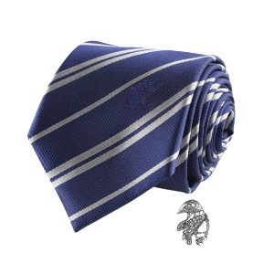 Cravate Deluxe Serdaigle avec pin's - Harry Potter