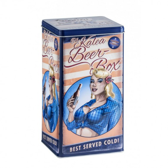 Beer-box en métal - Blond Hair Rétro