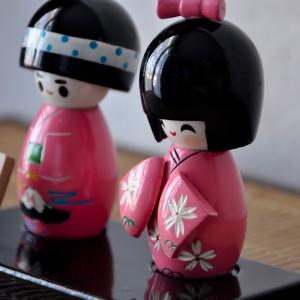 Poupées japonaises Kokeshi Tendresse