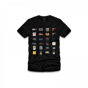 Tshirt Noir Geek Store 8 Bit