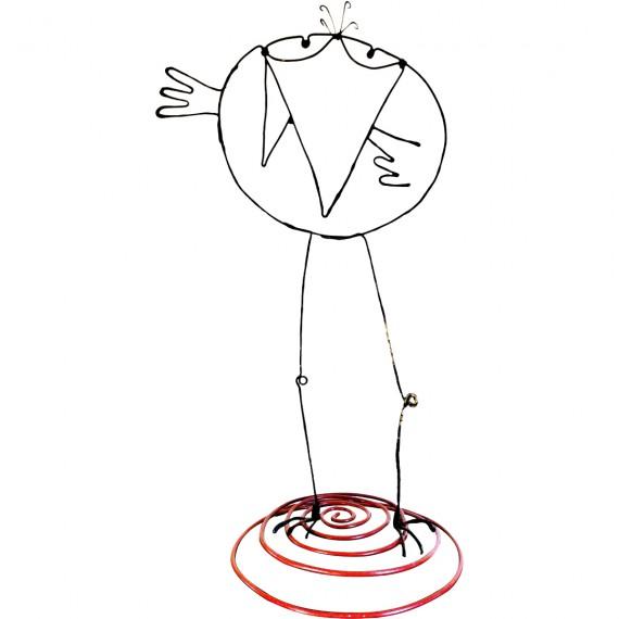 Figurine faite main - Style Shadok danseur