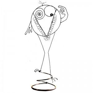 Figurine faite main - Style Shadok prof