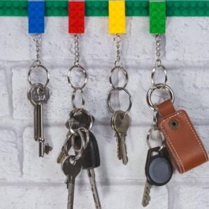 Porte clé en forme de briques lego