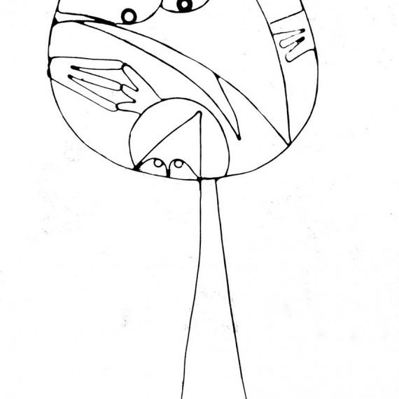 Figurine faite main - Style Maman Shadok