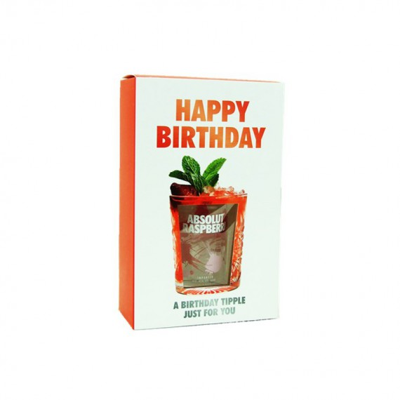 COFFRET BIRTHDAY ABSOLUT RASPBERRI VODKA