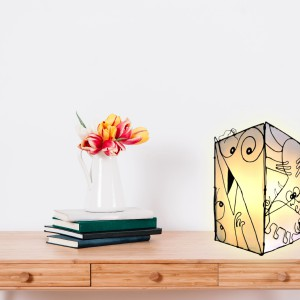 Figurine faite main - Luminaire Style Shadok