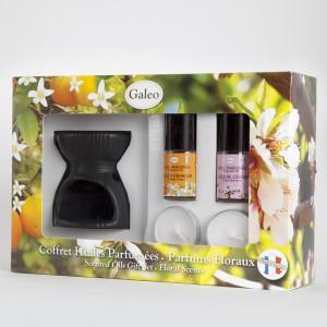 Coffret brûle-parfum en céramique - huiles parfumées
