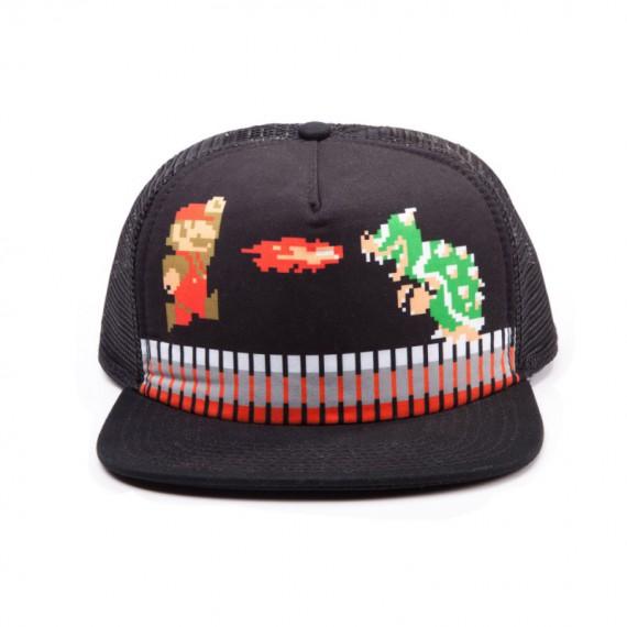 Casquette Nintendo Mario 3D vs Bowser Pixel