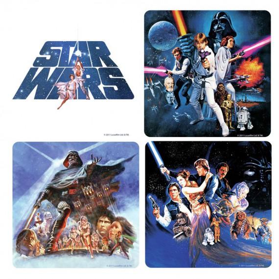 Pack de 4 Dessous de Verre Star Wars Personnages