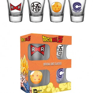 Verres Shot Dragon Ball Z (x4)