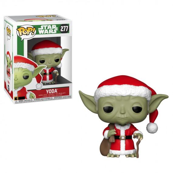 Figurine POP Star Wars Holiday Santa Yoda