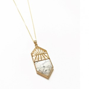 Collier or & marbre - Isaure