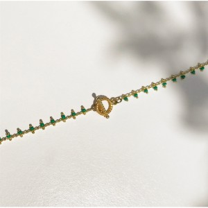 Collier doré à l'or fin - Léa