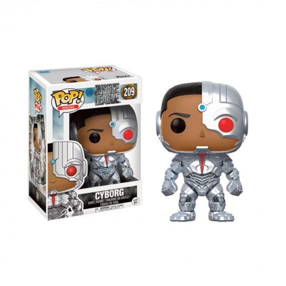 Figurine DC Justice League - Cyborg Pop 10cm