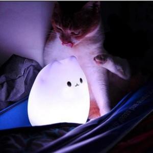 Veilleuse chat tactile et rechargeable