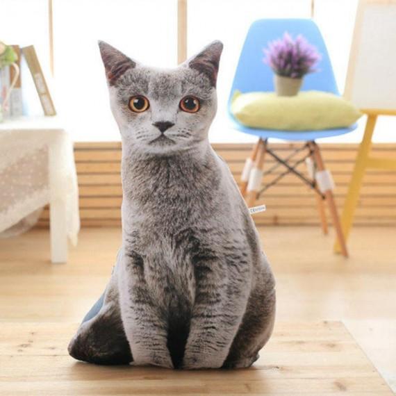 Coussin hyper réaliste de chat