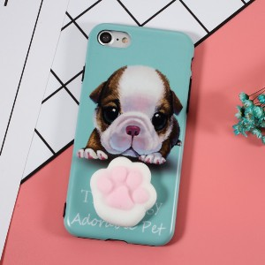 Coque iPhone à tripoter - Chien et chat