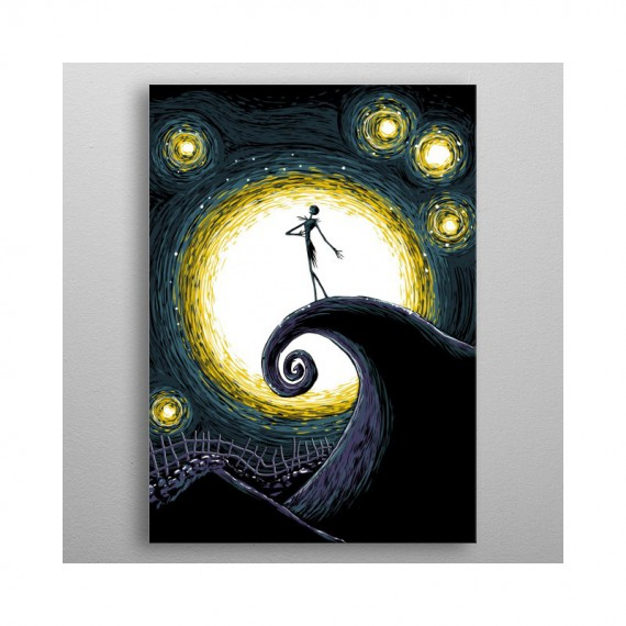 Poster en Métal l'incroyable noel de monsieur Jack - Tim Burton