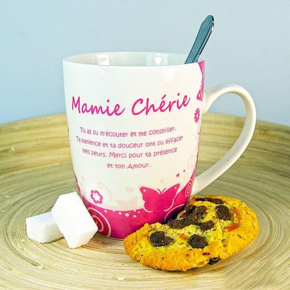 Mug mamie chérie - Avec mamie c'est sucreries, guilis et compagnie
