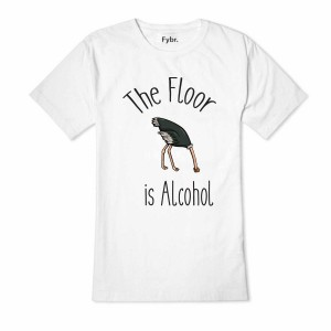 T-shirt The floor is alcohol