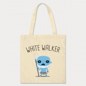Tote Bag Marcheur Blanc - Game Of Throne