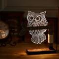 Lampe Illusion - Chouette 3D